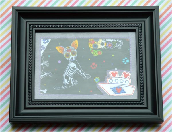 disney cruise picture frame mat in the hoop embroidery file by spunky stitches