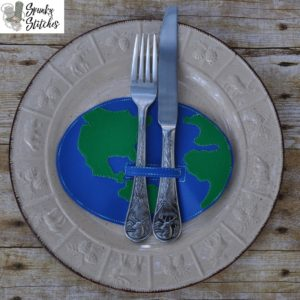 earth silverware holder in the hoop embroidery file by spunky stitches