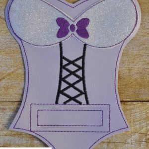 lingerie silverware holder in the hoop embroidery file by spunky stitches
