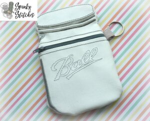 mason jar zipper bag in the hoop embroidery file by spunky stitches
