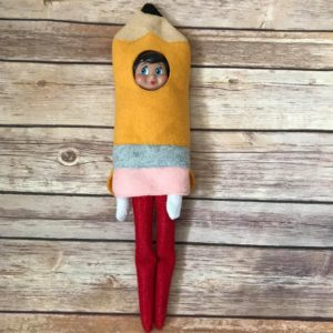 Elf Pencil costume in the hoop embroidery file by spunky stitches