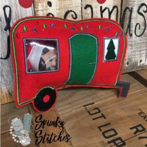 camper for elf costume in the hoop embroidery file by spunky stitches