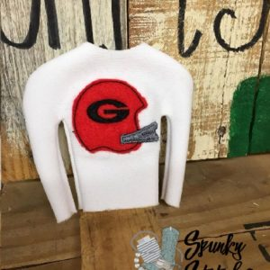 football costume for elf in the hoop embroidery file by spunky stitches