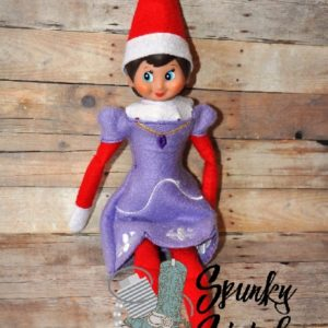 sofia costume for elf in the hoop embroidery file by spunky stitches