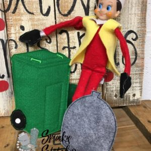garbage man elf costume in the hoop embroidery file by spunky stitches
