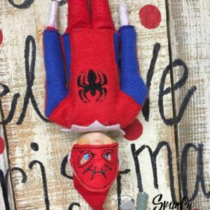 spiderman elf costume in the hoop embroidery file by spunky stitches