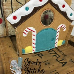 gingerbread house elf costume in the hoop embroidery file by spunky stitches
