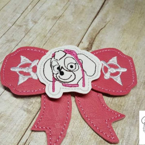 skye bow in the hoop embroidery file by spunky stitches