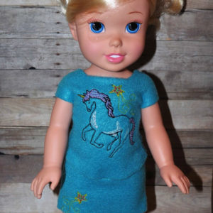 18 in doll unicorn set in the hoop embroidery file by spunky stitches