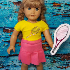 18in doll tennis shirt in the hoop embroidery file by spunky stitches
