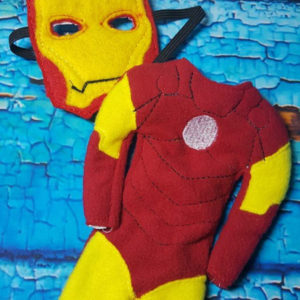 iron man elf costume in the hoop embroidery file by spunky stitches