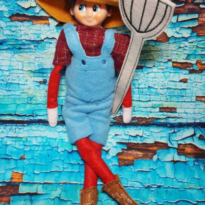 farmer elf costume in the hoop embroidery file by spunky stitches