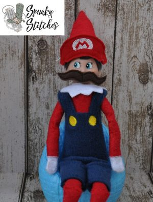 Elf Mario Costume in the hoop embroidery file by spunky stitches