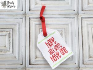 Don't have one Gift Tag in the hoop embroidery file by spunky stitches