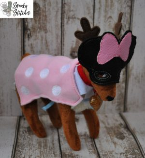Elf Pet Minnie costume in the hoop embroidery file by spunky stitches