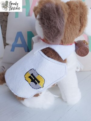 Elf Pet Hufflepuff Blanket in the hoop embroidery file by spunky stitches