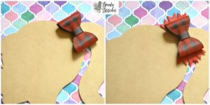 plaid bow with spike in the hoop embroidery file by spunky stitches