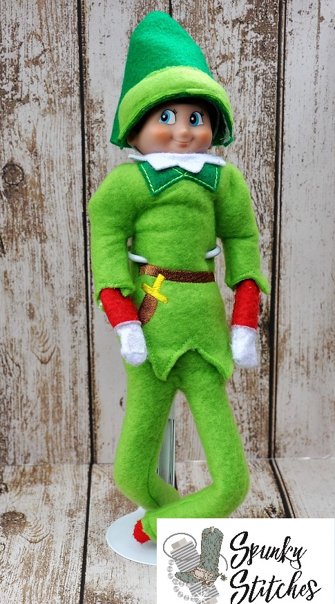 Elf Peter Pan Costume in the hoop embroidery file by spunky stitches
