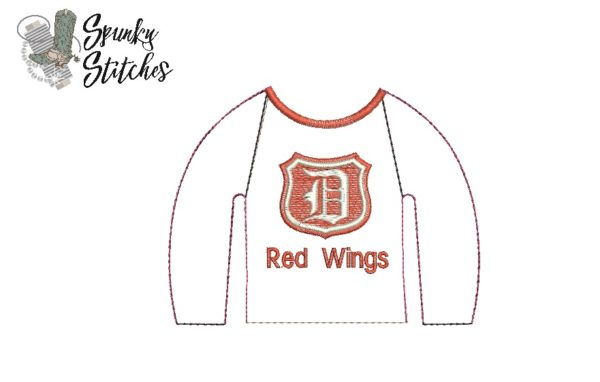 Elf redwings raglan in the hoop embroidery file by spunky stitches