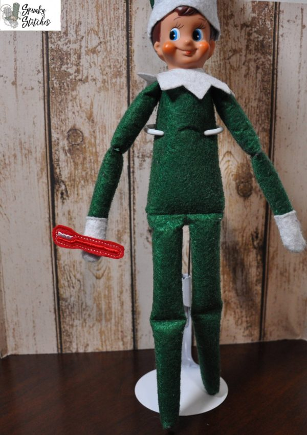 elf toothbrush in the hoop embroidery file by spunky stitches.