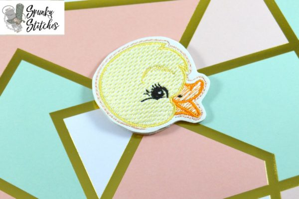duck pencil topper in the hoop embroidery file by Spunky stitches