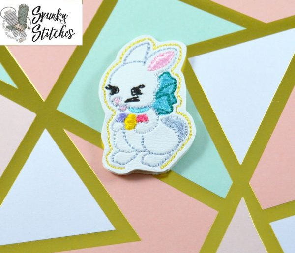 vintage bunny in the hoop embroidery file by Spunky stitches