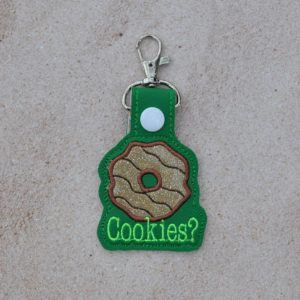 Got cookies key fob in the hoop embroidery file by Spunky stitches