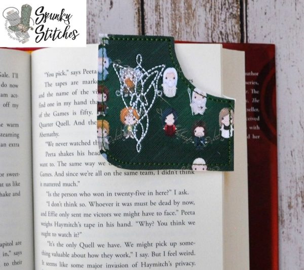 evenstar bookmark in the hoop embroidery file by Spunky stitches